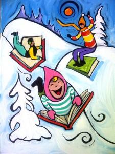 Original art donated by Ben Mann for the 2013 Literacy Breakfast.