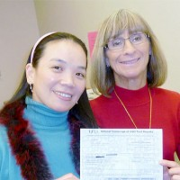 Qing gets her GED!