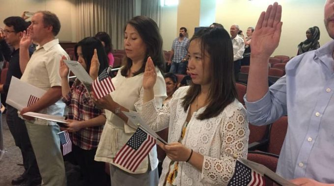 Joana And Lucy Becoming US Citizens.